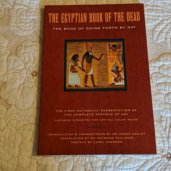 """""""The Egyptian Book of the Dead"""" coffee table book"""